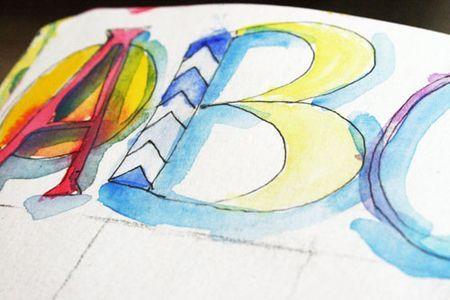 watercolor typography: Watercolor Typography, Crafts Watercolor