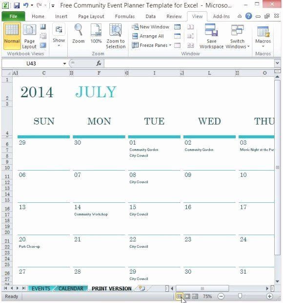 Excel Event Planning Template Awesome Free Munity Event Planner