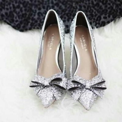 Silver Wedding Shoes By Carvela