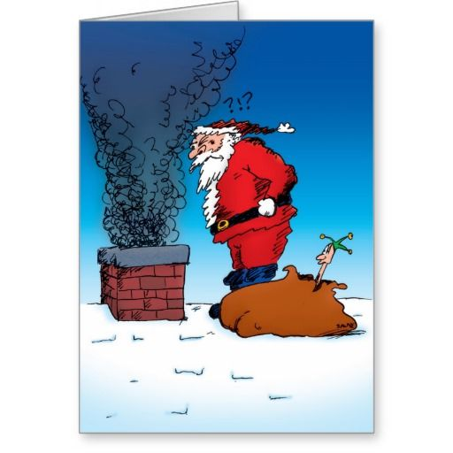 34 best Christmas Cards images on Pinterest   Christmas cards     Santa Whiz Funny Cartoon Holiday Card
