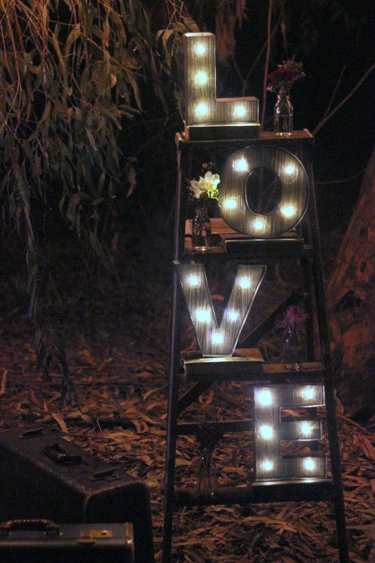 L O V E Ladder With Light Up Letters Wedding Decor