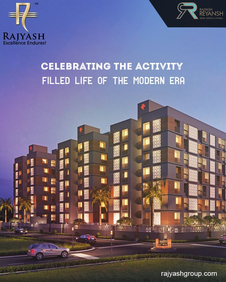 At #Reyansh we celebrate the modern-living by providing you with the best conveniences to lead an active life. #RajyashCity #RajYashGroup #RajYash #SouthVasna #Ahmedabad