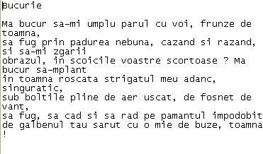 Bucurie- Nina Cassian