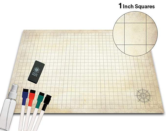 Battle Grid Game Mat 36 X 24 Portable Rpg Table Top Role Playing Map Dungeons And Dragons Starter Set Dnd Tablet Grid Game Dungeons And Dragons Rpg Table