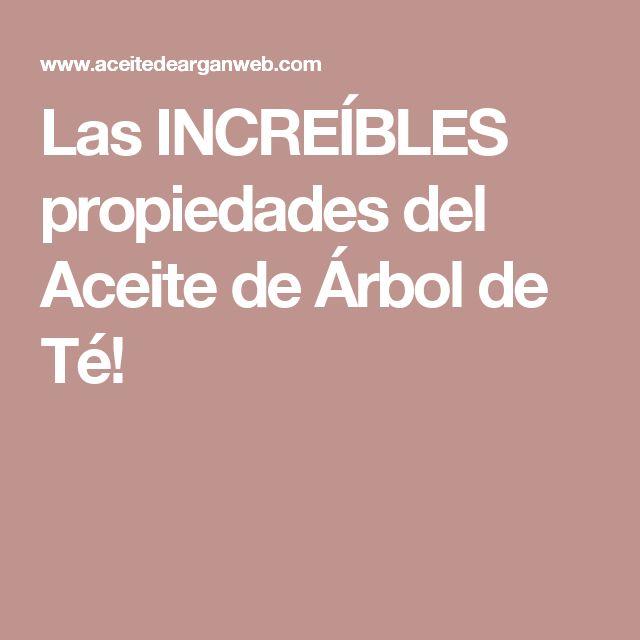 Las INCREÍBLES propiedades del Aceite de Árbol de Té!