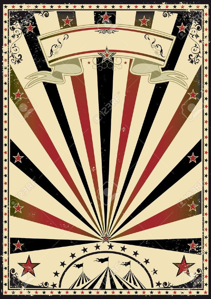 Vintage Carnival Border A retro circus poster for your