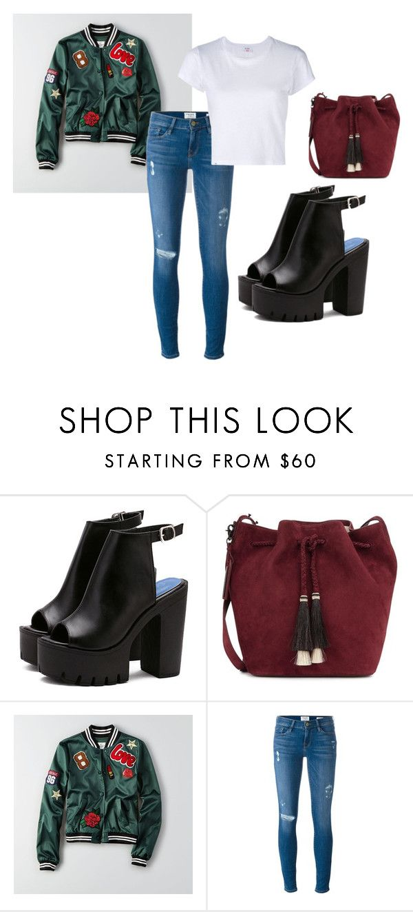 29 by espe-rebollo on Polyvore featuring moda, RE/DONE, American Eagle Outfitters, Frame Denim and Loeffler Randall