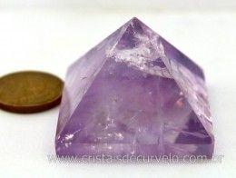 Piramide Ametista Cristalizada quartzo Semi Transparente Base Queops Cod 45.3