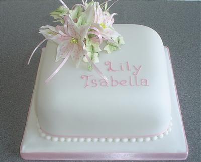 Pretty baptism cake!
