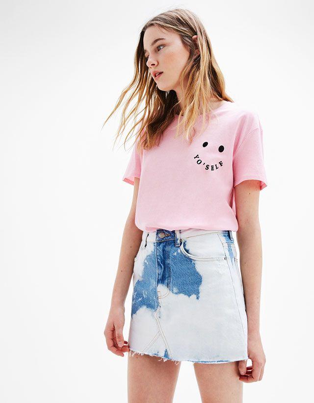 Frilled mini skirt - Skirts - Bershka United Kingdom
