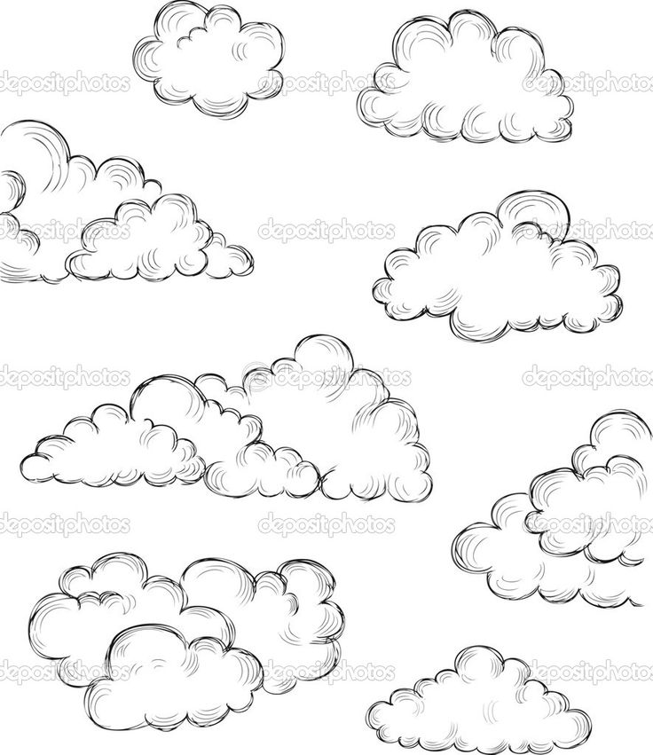 Line Drawing Clouds : Best clouds images on pinterest clip art and