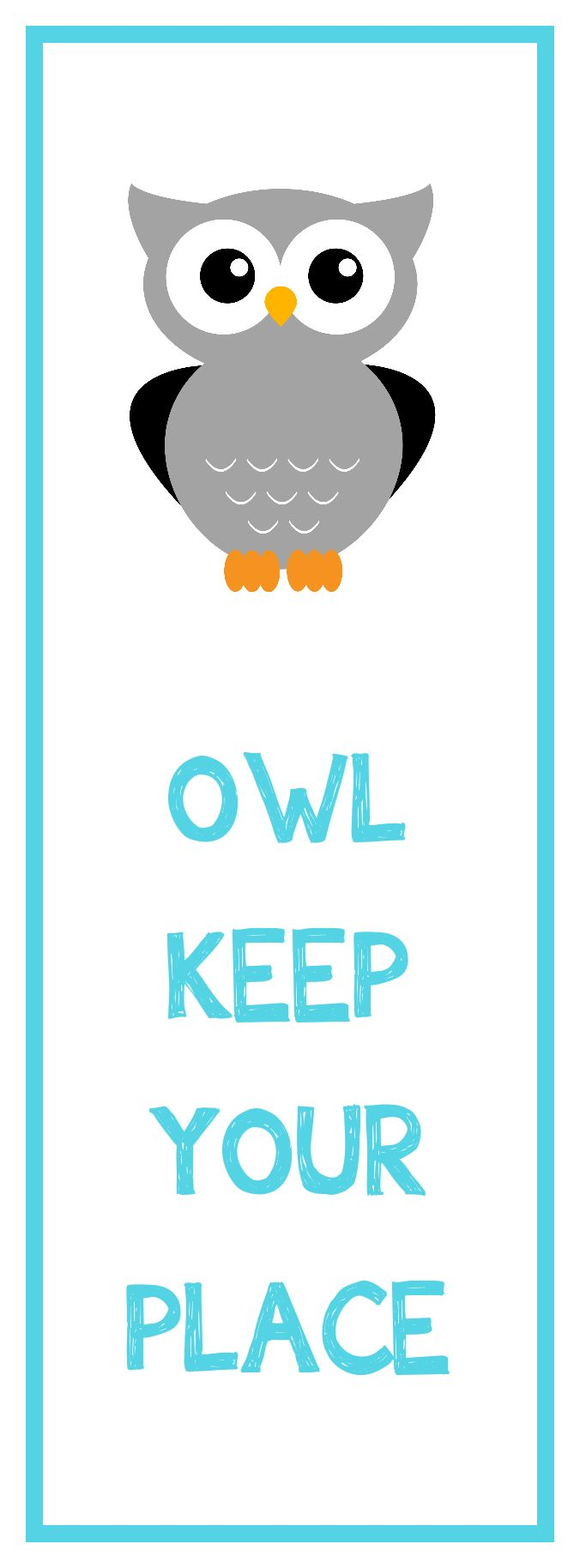 owl bookmark printable - Pictures That You Can Print Out And Color