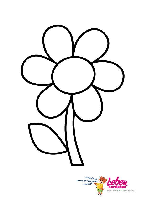 Pin von Simone Weyer auf Ausmalbilder  Pinterest  Blumen vorlage Blumen basteln und Basteln