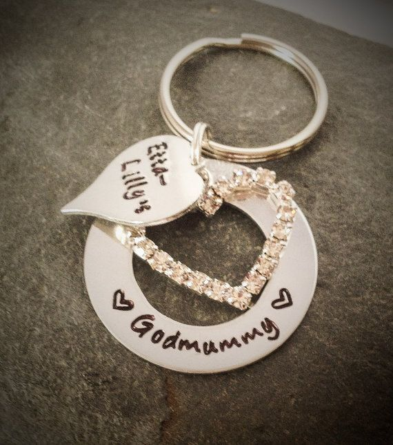 Personalised Aluminium Washer Keyring with a by CherryTreeCharm, £10.00