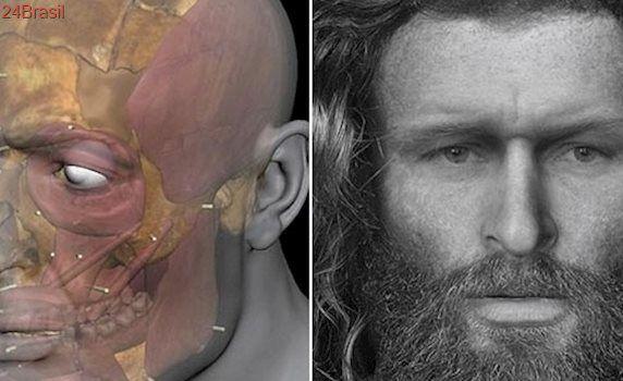 Esqueleto-gato: Homem morto há 1.400 anos tem rosto recriado na Escócia