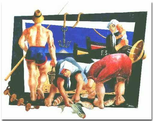 'la pesca' mural, Lanzarote, ES (by Cesar Manrique)