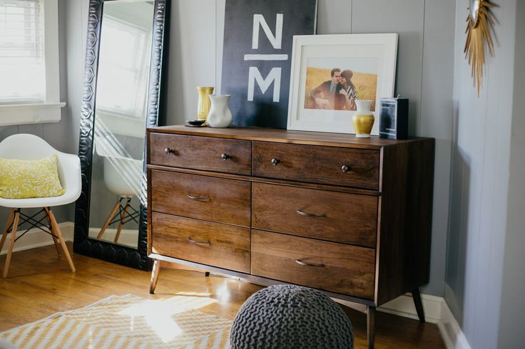 MidCentury Modern Dresser Handcrafted in Cherry by ThePlaidMill