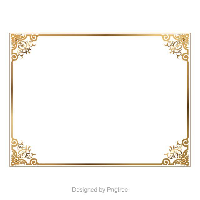 Golden Border Border Vector Boundary Golden Vector Picture Frame Vector Frame Border Gold Royal Clip Art Frames Borders Frame Border Design Printable Frames