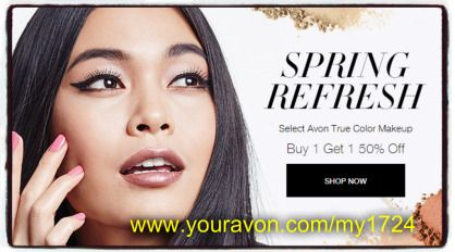 Beauty Boss Misty Blog Page: Avon Make-Up Sale Buy 1 Get 1 Half Off Shop online today at www.youravon.com/my1724 #AVON #MAKEUP #AVONMAKEUP #MAKEUPSALE #POPULARBLOG #WEDDING #GIFTS #SPRINGLOOK #HAIR