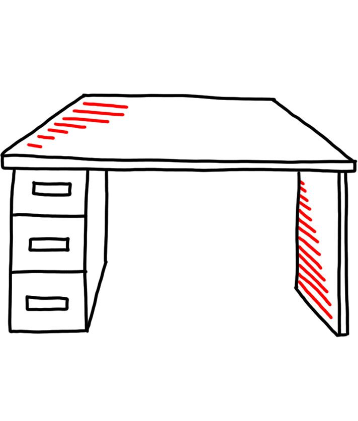 How to doodle desk