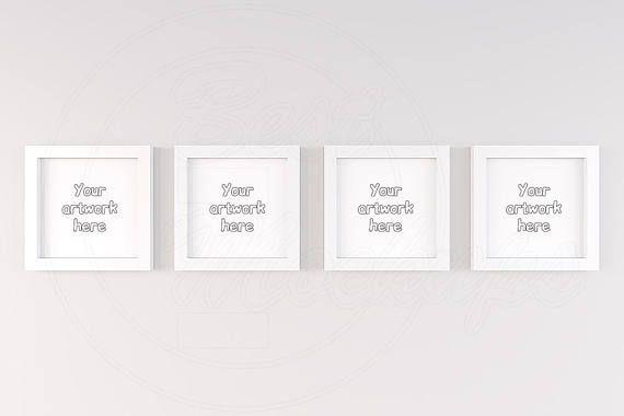 Set Of Four Frame Square Frame Mockup 4 Mockup White Frame Etsy Free Psd Mockups Templates Mockup Free Psd Free Packaging Mockup