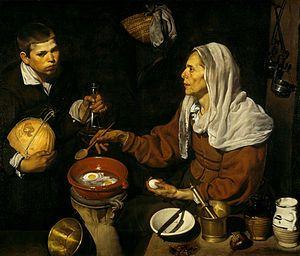 """""""Vieja friendo huevos"""" es un cuadro de Diego Velázquez relizado en 1618."""