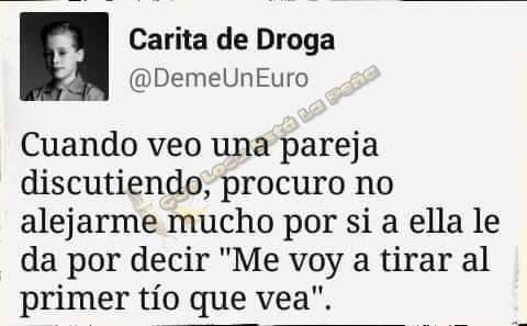 Cuando veo una pareja discutiendo, procuro no alejarme mucho por @DemeUnEuro