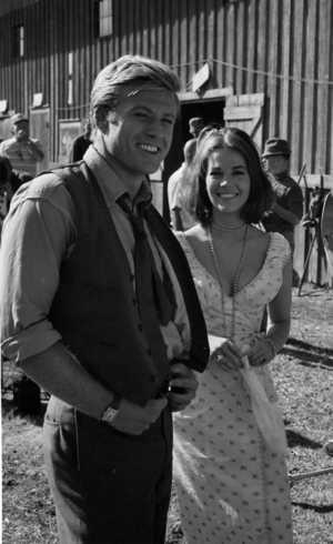 Robert Redford and Natalie Wood on set of This Property is Condemned. September 1965. How beautiful?