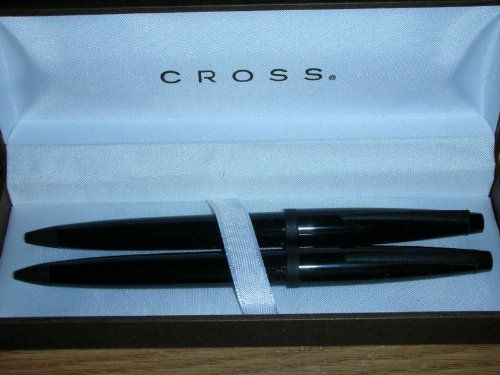 Cross Solo Ebony Black Lacquer Ballpoint Pen & Pencil Set by Solo. Save 59 Off!. $35.00. Cross Solo Ebony  Black Lacquer & with Satin Black  Appointments  Ball Point Pen & 0.5MM Pencil  Classic style very impressive pen  Comes in a Cross Gift box           Product Description Brand New From AT Cross Factory     Solo Ebony Black Ballpoint pen & 0.5MM pencil  . Fun to own or great as a gift