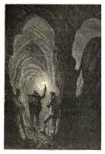 018-En el descenso-Viaje al centro de la Tierra-Voyage au centre de la terre-ilustrado por Edouard Riou por ayacata7.
