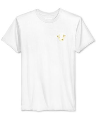 TRUE RELIGION True Religion Men'S Metallic Logo Graphic-Print T-Shirt. #truereligion #cloth #shirts