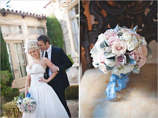 Cinderella wedding ideas -  prince charming with his cinderella - real wedding