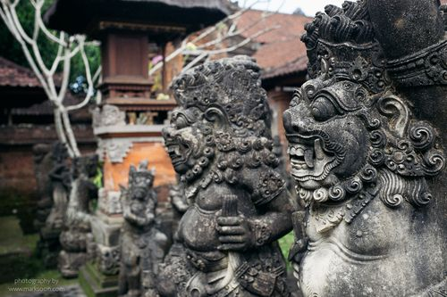 Balinese sculptures at Ubud.