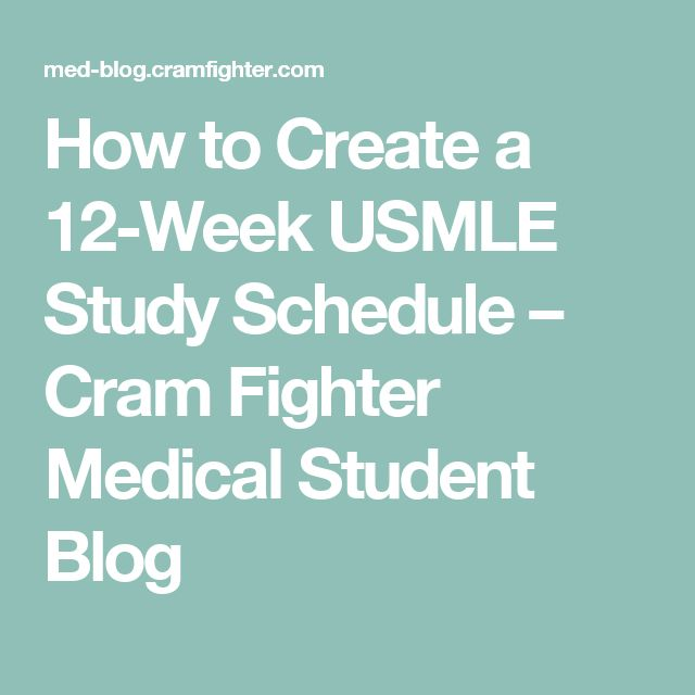 how to create a study plan for usmle