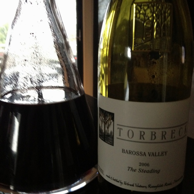 Delicious 2006  Barossa Valley blend, Grenache, Mataro, Shiraz solid and earthy, slight sediment. drinking very well