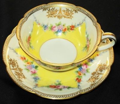 Vintage Noritake Japan Wreath Garland Tea Cup and Saucer Teacup | eBay
