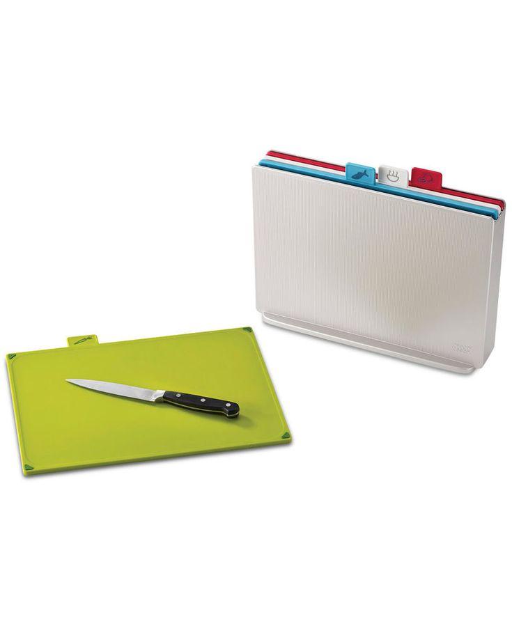 Joseph Joseph Large Index Plastic Cutting Board 4pc Set W/ Storage Case, Silver  | eBay