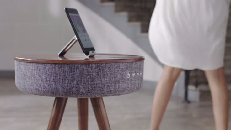Mellow – A unique Bluetooth speaker integrated modern side table