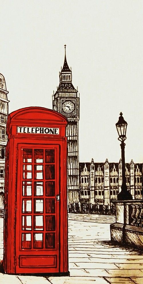 London | art, vintage and red