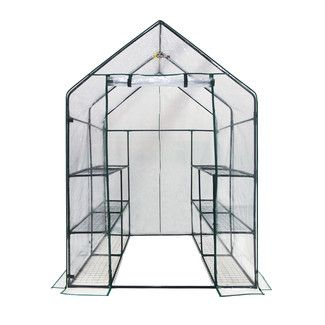 <strong>OGrow</strong> Deluxe Walk in 6 Tier 4.5 Ft. W x 4.5 Ft. D Plastic Greenhouse