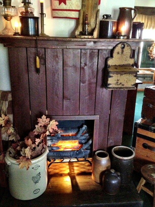 99 best Faux Fireplaces images on Pinterest : country fireplace : Fireplace Design