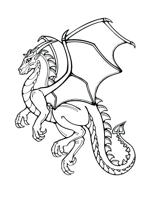 Dragon Coloring Pages Free Dragon Coloring Page Coloring Books Coloring Pages
