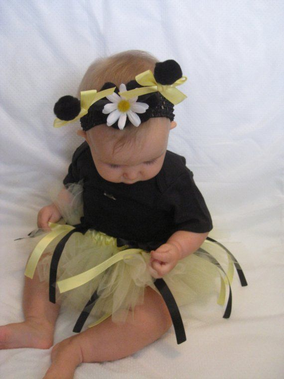 Infant Bumble Bee Tutu Costume Size 03 months or 612 months 3 pcs included  Bumble bees, 12
