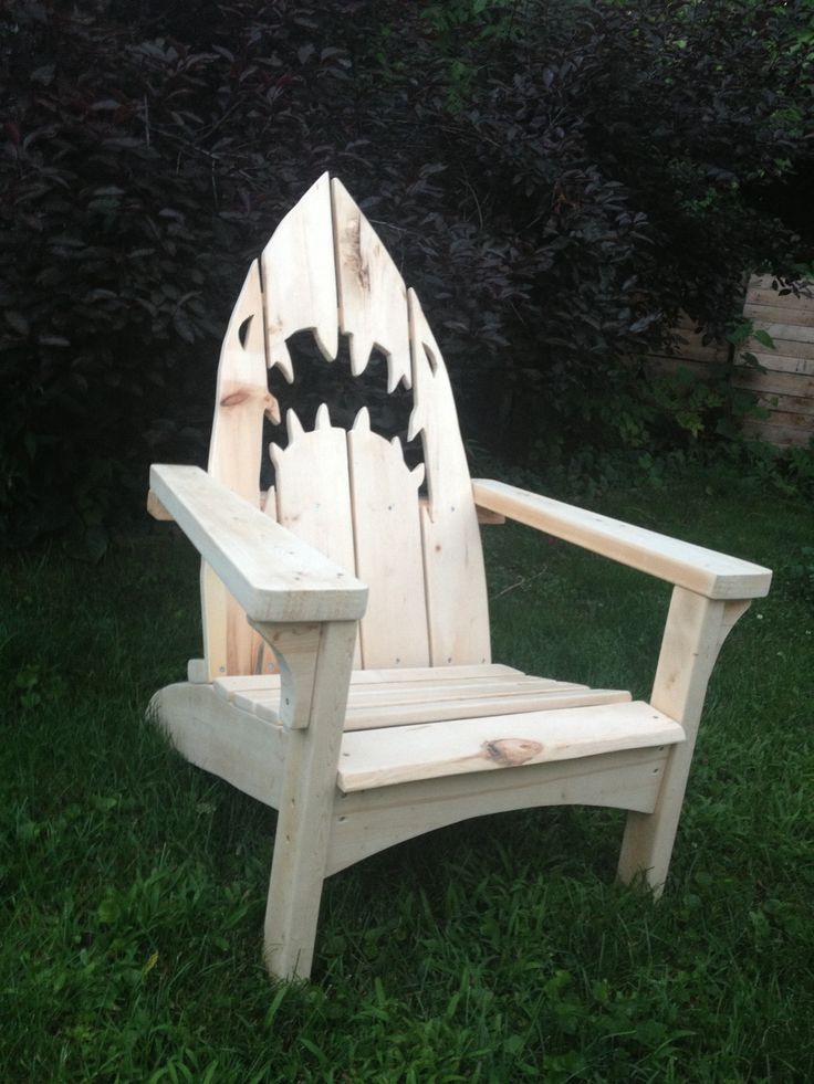 Shark Adirondack Chair Outdoor Furniture Plans Painted