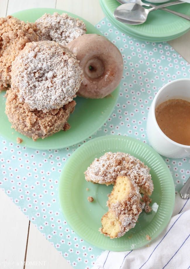 Homemade Crumb Donuts | Baking a Moment How to make cake #cake #food