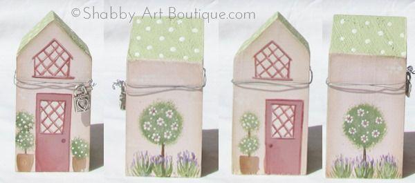 Shabby Art Boutique - DIY Village Shops - pink Shop