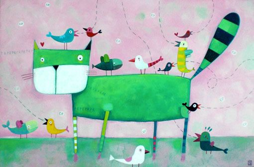 the cat and his noisy friends... by illusimi, via Flickr