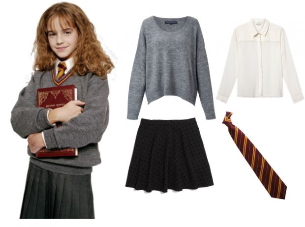 Not specifically hermione but a hogwarts student, would try and get a robe from somewhere too