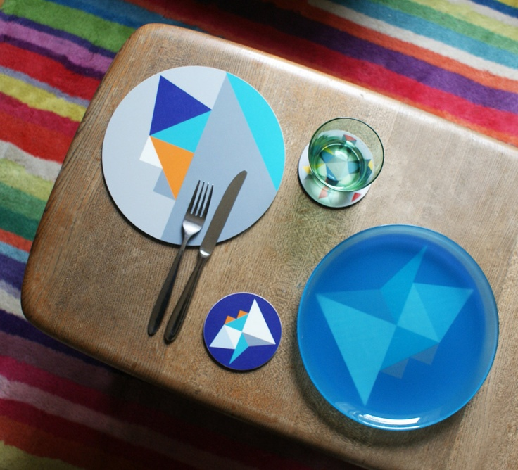 Limited Edition Mixed Geo Tablemats, via Etsy. Table