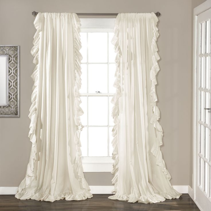 Evelyn Ruffle Rod Pocket Curtain Panel Pair & Reviews | Joss & Main